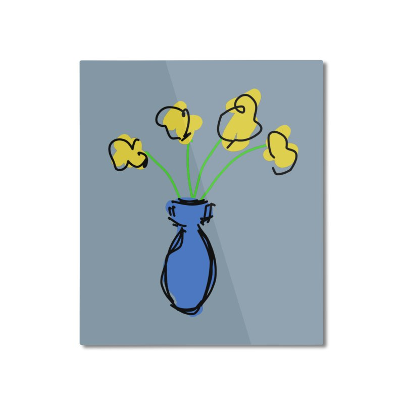 Vase of Flowers Home Mounted Aluminum Print by Stonestreet Designs