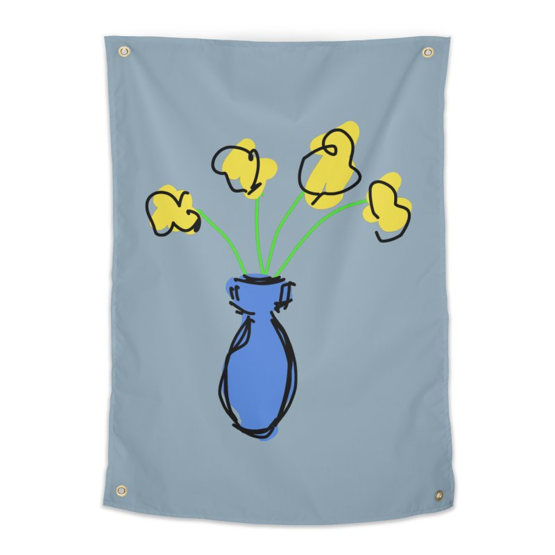 Vase of Flowers Home Tapestry by Stonestreet Designs