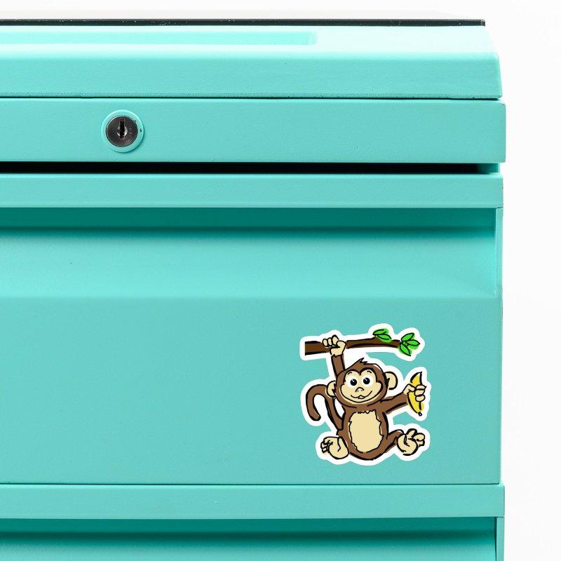 Monkey Accessories Magnet by Stonestreet Designs