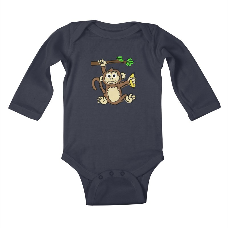 Monkey Kids Baby Longsleeve Bodysuit by Stonestreet Designs