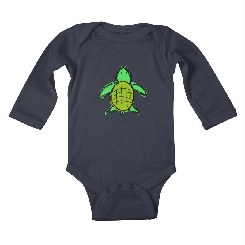 Turtle Kids Baby Longsleeve Bodysuit by Stonestreet Designs