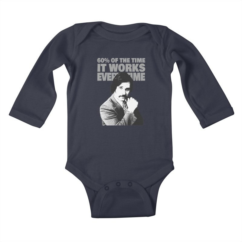 Works Every Time Kids Baby Longsleeve Bodysuit by Stonestreet Designs