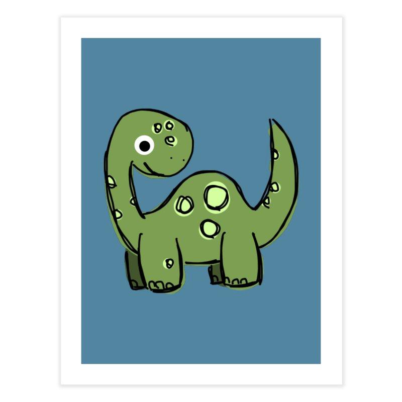 Brontosaurus Home Fine Art Print by Stonestreet Designs