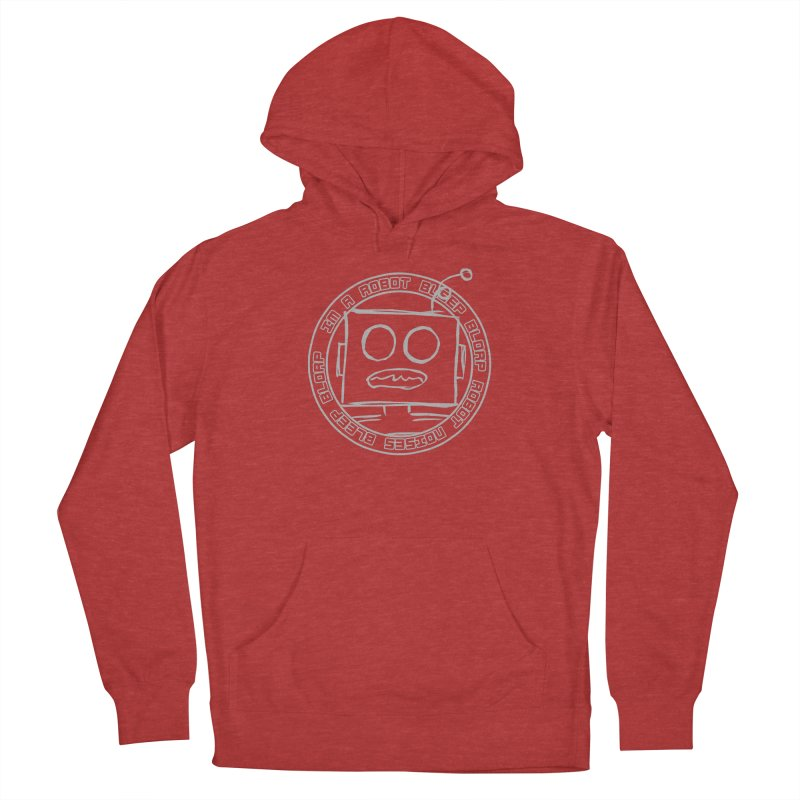 Robot Noises Men's French Terry Pullover Hoody by stonestreet's Artist Shop