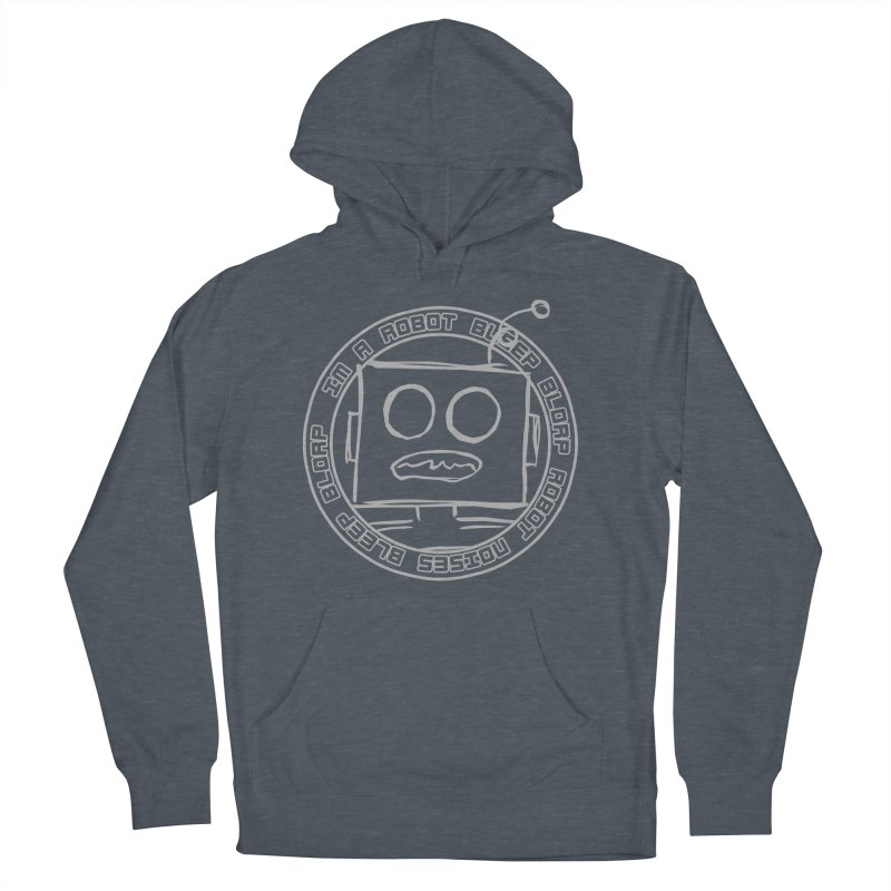 Robot Noises Women's French Terry Pullover Hoody by stonestreet's Artist Shop