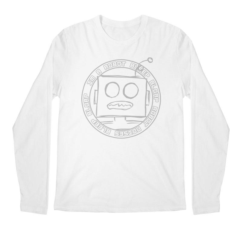 Robot Noises Men's Regular Longsleeve T-Shirt by stonestreet's Artist Shop
