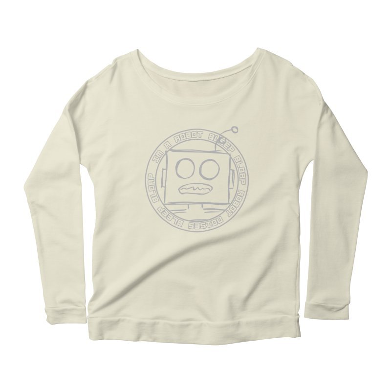 Robot Noises Women's Scoop Neck Longsleeve T-Shirt by stonestreet's Artist Shop