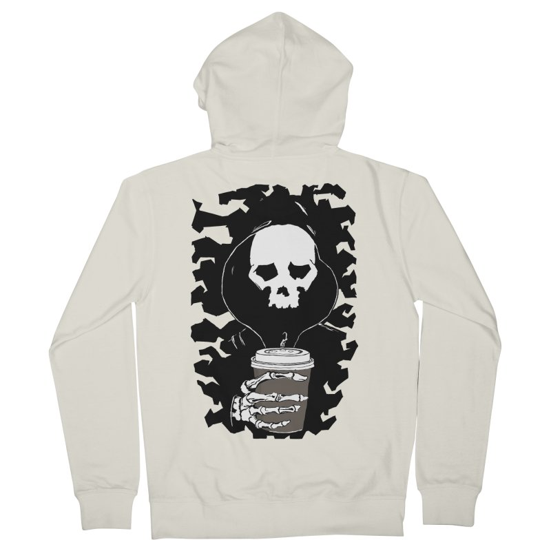 Coffee in the Mourning Women's French Terry Zip-Up Hoody by stonestreet's Artist Shop