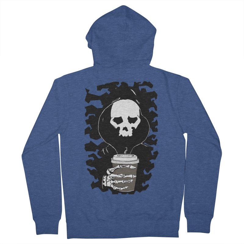 Coffee in the Mourning Men's French Terry Zip-Up Hoody by stonestreet's Artist Shop