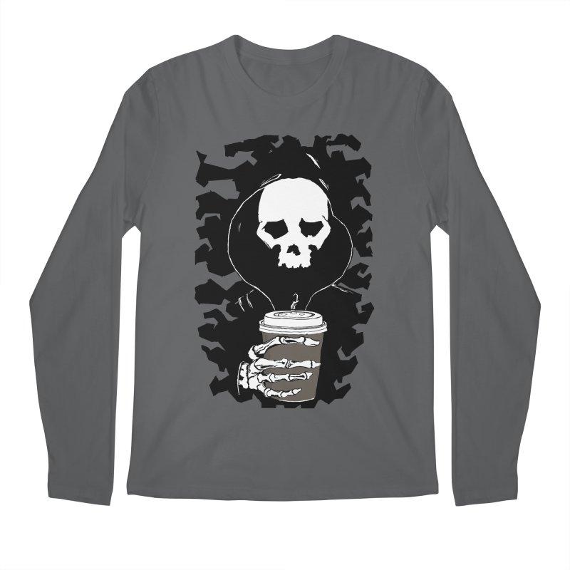 Coffee in the Mourning Men's Regular Longsleeve T-Shirt by stonestreet's Artist Shop