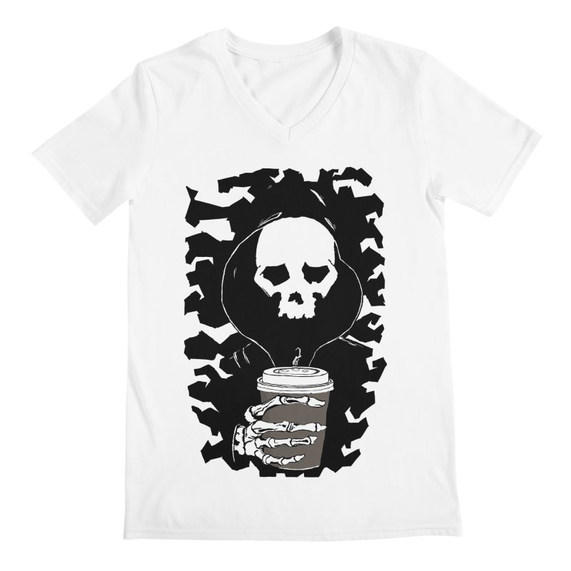 Coffee in the Mourning Men's Regular V-Neck by stonestreet's Artist Shop