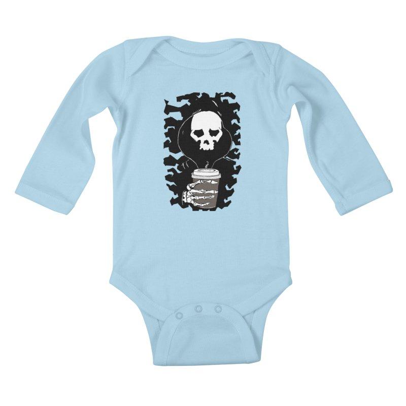 Coffee in the Mourning Kids Baby Longsleeve Bodysuit by stonestreet's Artist Shop