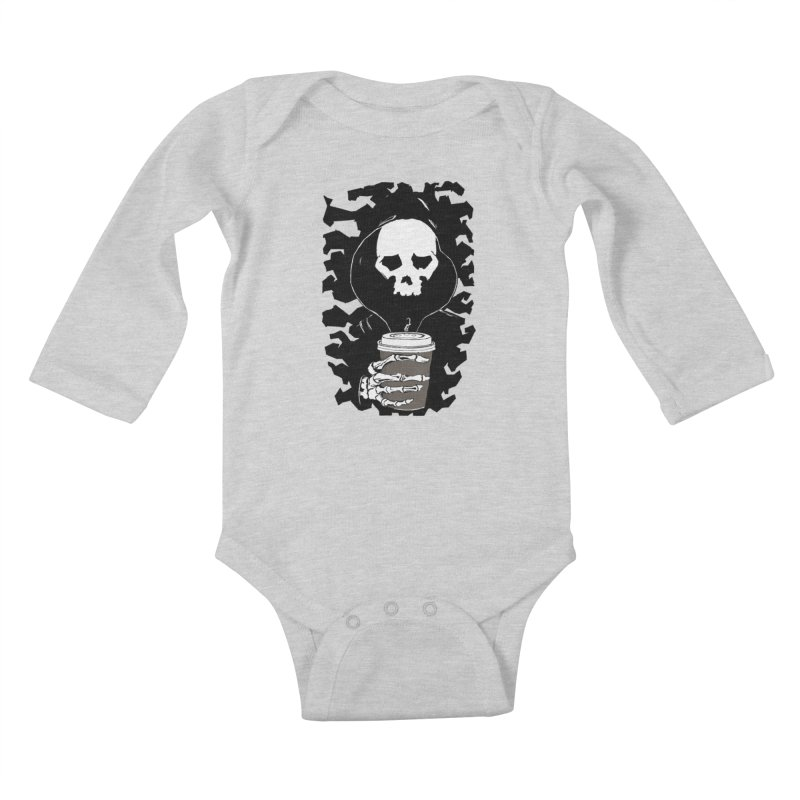 Coffee in the Mourning Kids Baby Longsleeve Bodysuit by stonestreet's Artist Shop