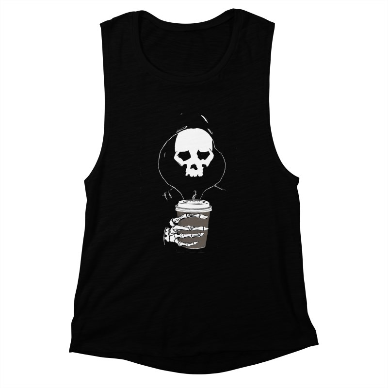 Coffee in the Mourning Women's Muscle Tank by stonestreet's Artist Shop