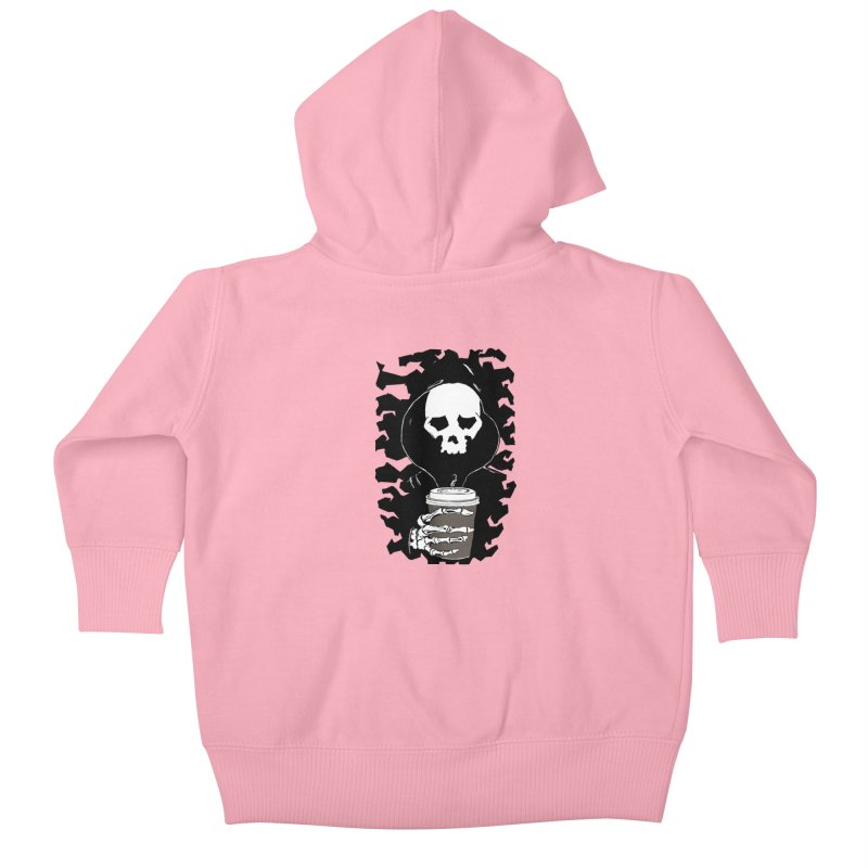 Coffee in the Mourning Kids Baby Zip-Up Hoody by stonestreet's Artist Shop