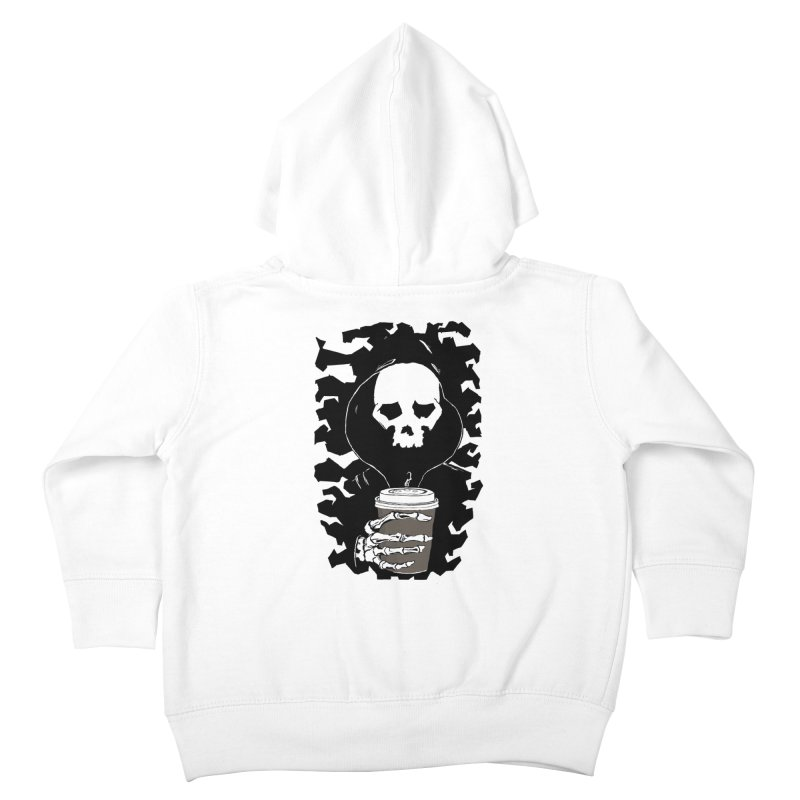 Coffee in the Mourning Kids Toddler Zip-Up Hoody by stonestreet's Artist Shop