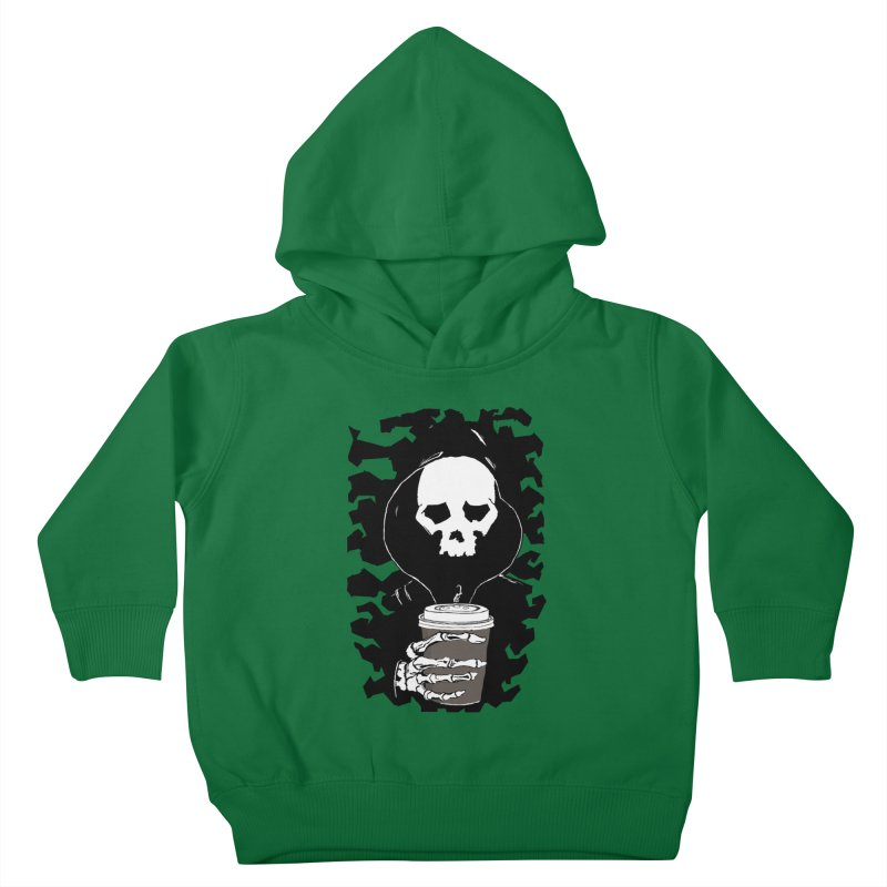 Coffee in the Mourning Kids Toddler Pullover Hoody by stonestreet's Artist Shop