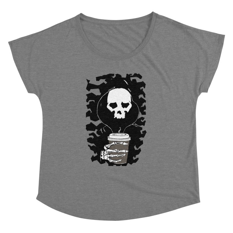 Coffee in the Mourning Women's Dolman Scoop Neck by stonestreet's Artist Shop