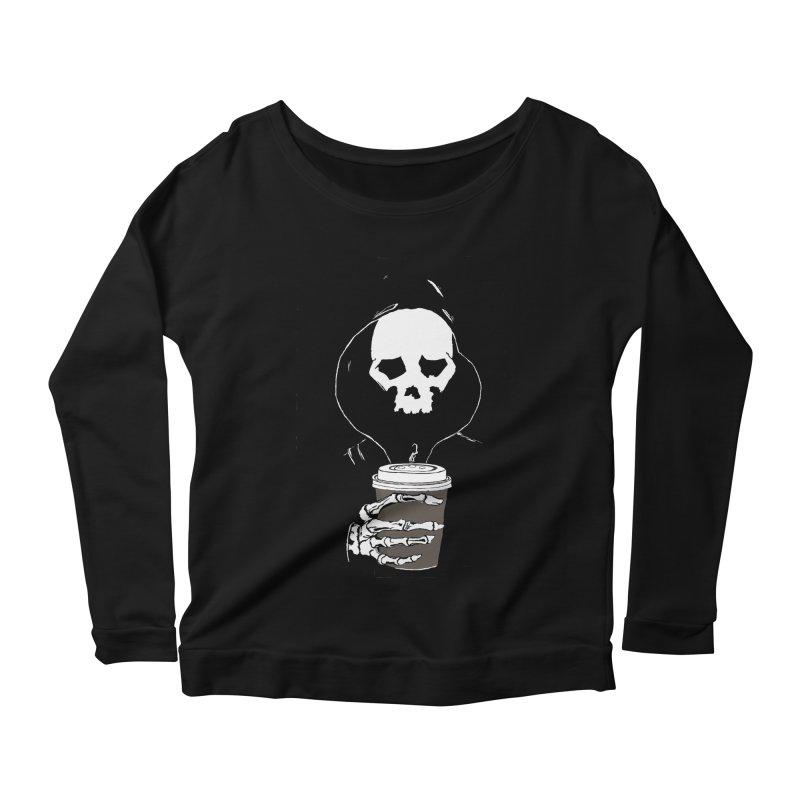 Coffee in the Mourning Women's Scoop Neck Longsleeve T-Shirt by stonestreet's Artist Shop