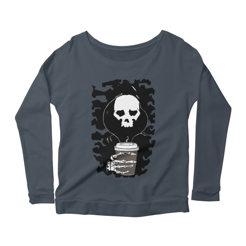 Coffee in the Mourning Women's Scoop Neck Longsleeve T-Shirt by stonestreet's Artist Shop
