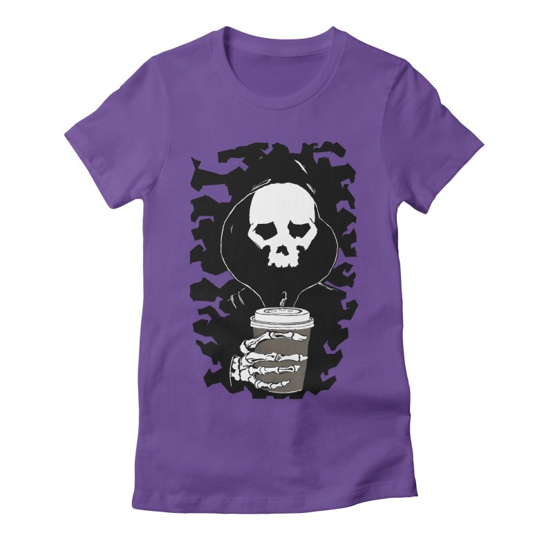 Coffee in the Mourning Women's Fitted T-Shirt by stonestreet's Artist Shop