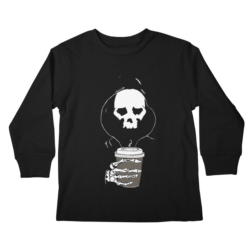 Coffee in the Mourning Kids Longsleeve T-Shirt by stonestreet's Artist Shop