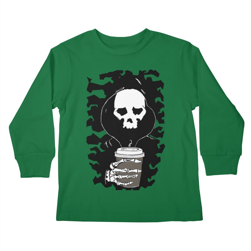 Coffee in the Mourning Kids Longsleeve T-Shirt by stonestreet's Artist Shop