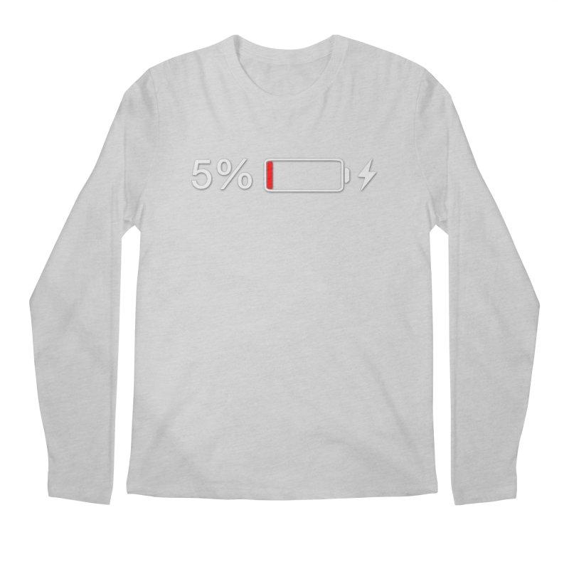 Low Batteries Men's Regular Longsleeve T-Shirt by stonestreet's Artist Shop