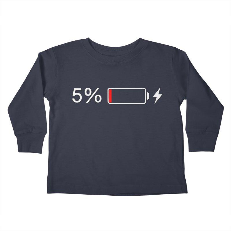 Low Batteries Kids Toddler Longsleeve T-Shirt by stonestreet's Artist Shop