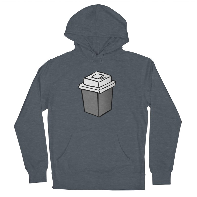 Coffee Square Men's French Terry Pullover Hoody by stonestreet's Artist Shop