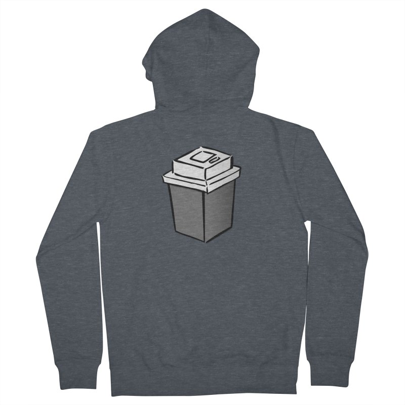 Coffee Square Women's French Terry Zip-Up Hoody by stonestreet's Artist Shop