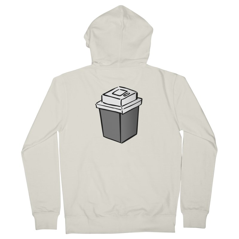 Coffee Square Men's French Terry Zip-Up Hoody by stonestreet's Artist Shop