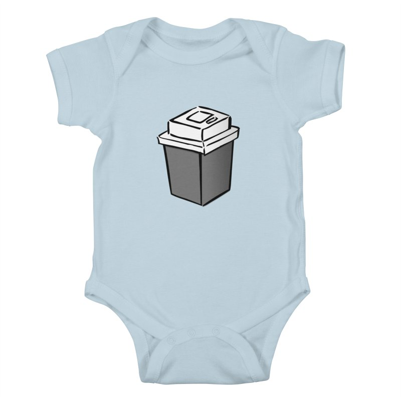 Coffee Square Kids Baby Bodysuit by stonestreet's Artist Shop