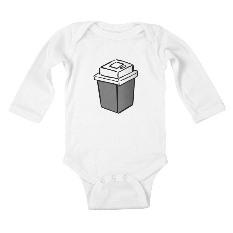 Coffee Square Kids Baby Longsleeve Bodysuit by stonestreet's Artist Shop
