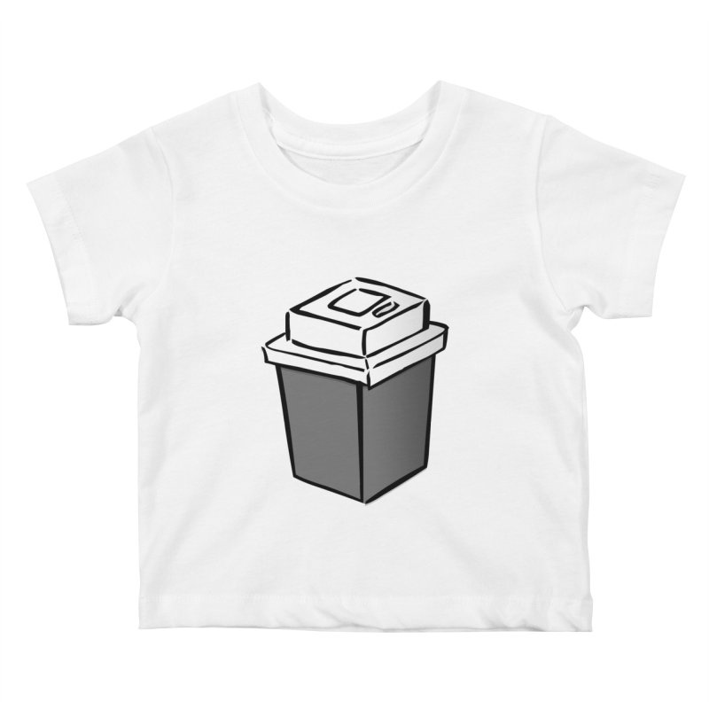 Coffee Square Kids Baby T-Shirt by stonestreet's Artist Shop