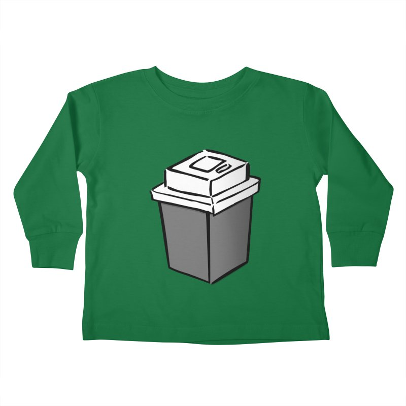 Coffee Square Kids Toddler Longsleeve T-Shirt by stonestreet's Artist Shop