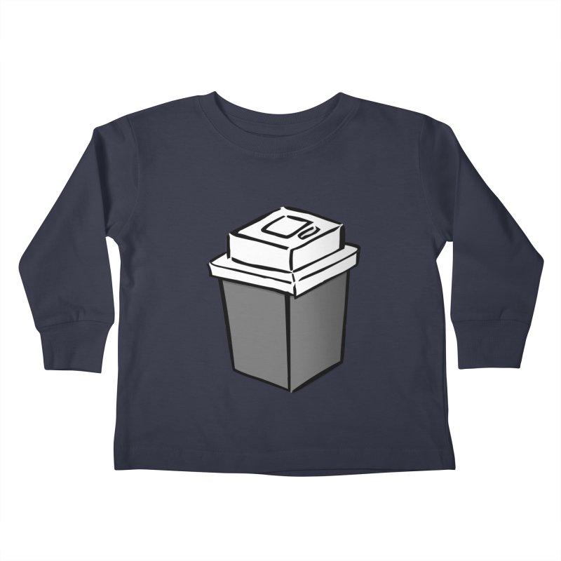 Coffee Square Kids Toddler Longsleeve T-Shirt by stonestreet's Artist Shop