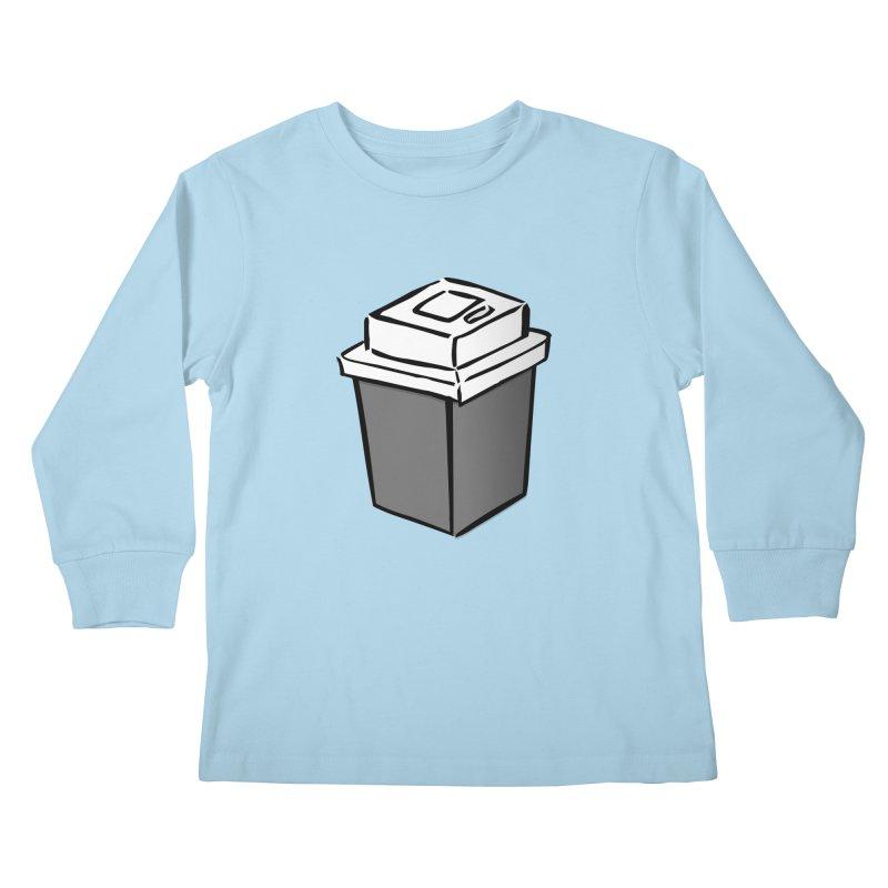 Coffee Square Kids Longsleeve T-Shirt by stonestreet's Artist Shop