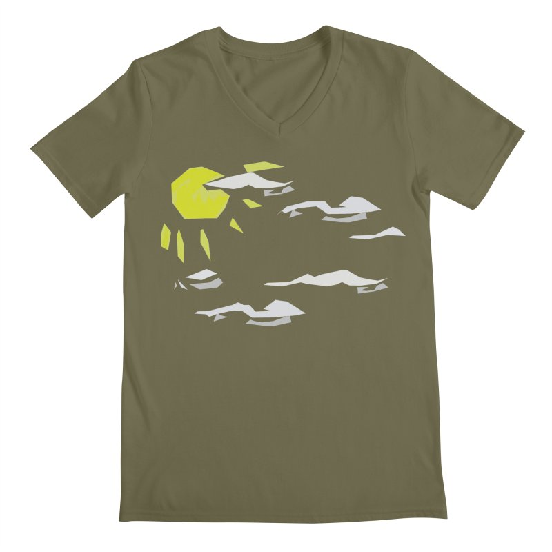 Sunny Daze Men's Regular V-Neck by stonestreet's Artist Shop