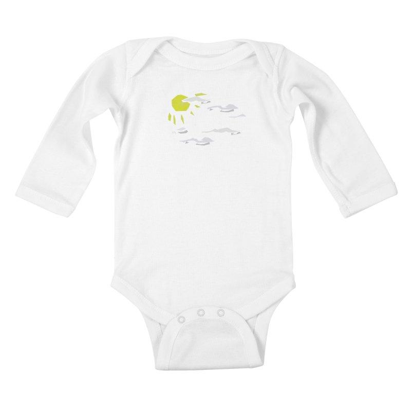 Sunny Daze Kids Baby Longsleeve Bodysuit by stonestreet's Artist Shop