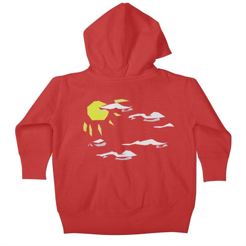 Sunny Daze Kids Baby Zip-Up Hoody by stonestreet's Artist Shop