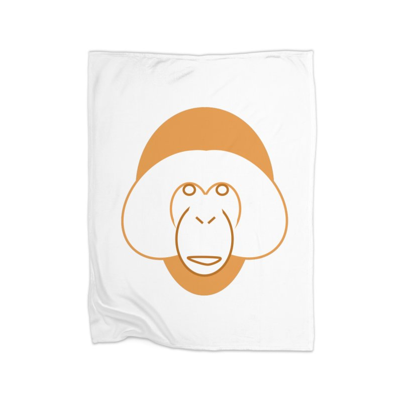 Orangutan Logo Home Fleece Blanket Blanket by Stop Palm Oil!