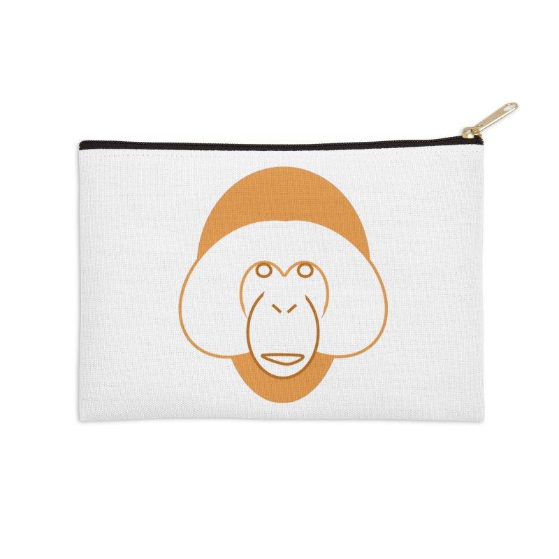 Orangutan Logo Accessories Zip Pouch by Stop Palm Oil!