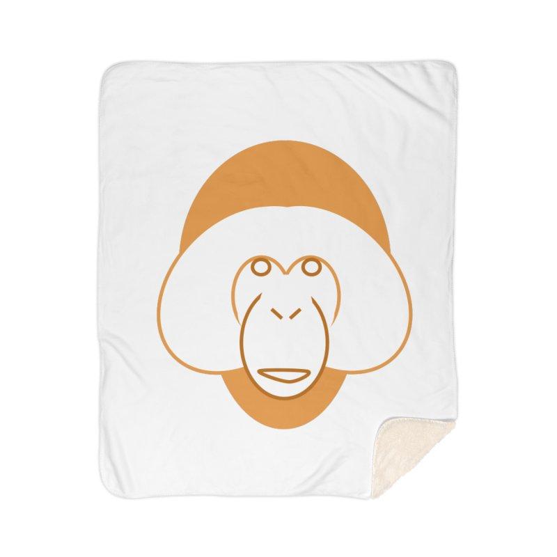 Orangutan Logo Home Sherpa Blanket Blanket by Stop Palm Oil!
