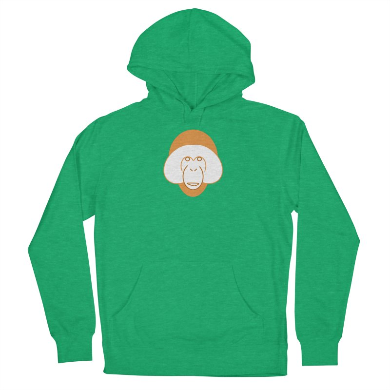 Orangutan Logo Women's French Terry Pullover Hoody by Stop Palm Oil!