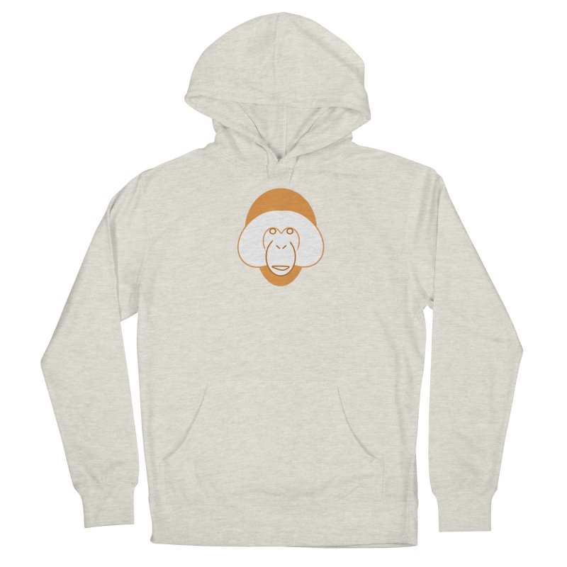 Orangutan Logo Men's French Terry Pullover Hoody by Stop Palm Oil!