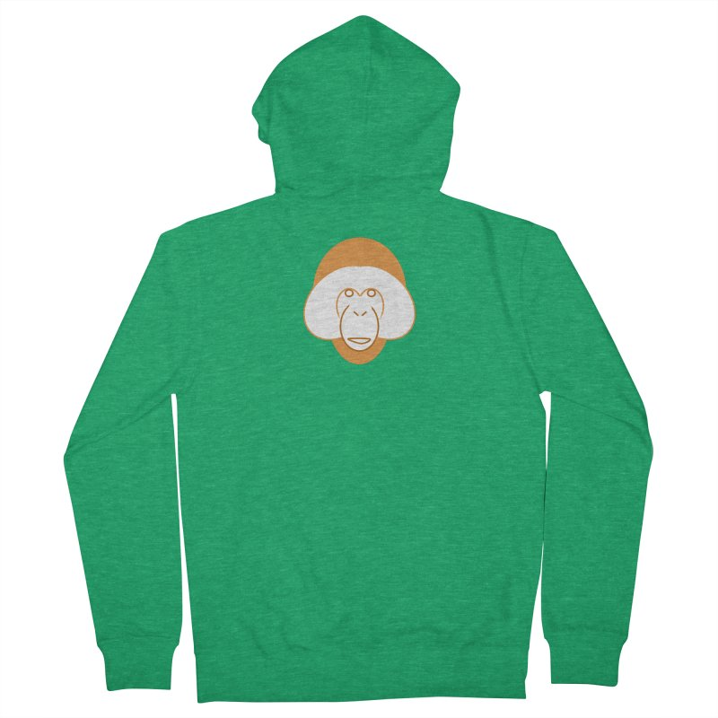 Orangutan Logo Women's French Terry Zip-Up Hoody by Stop Palm Oil!