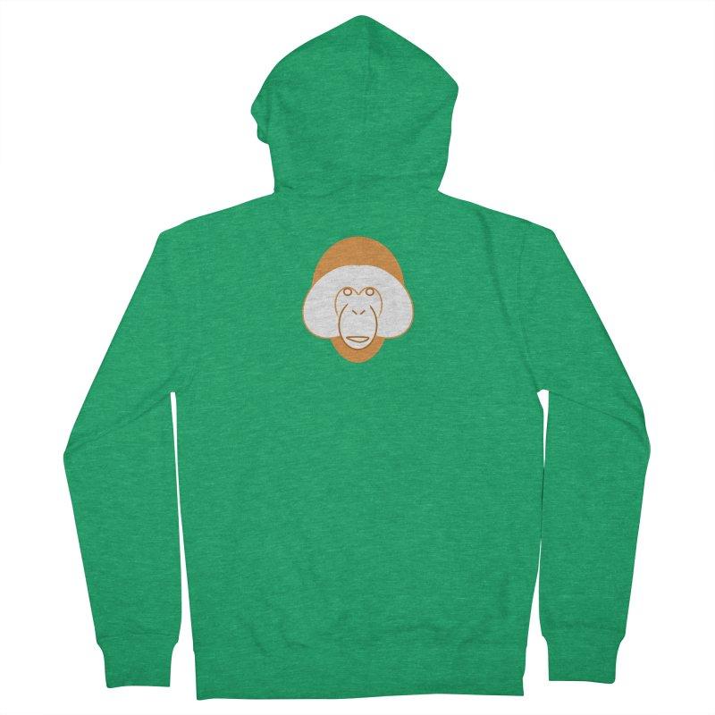 Orangutan Logo Men's French Terry Zip-Up Hoody by Stop Palm Oil!