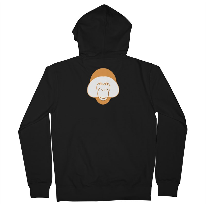 Orangutan Logo Men's French Terry Zip-Up Hoody by Stop Palm Oil!
