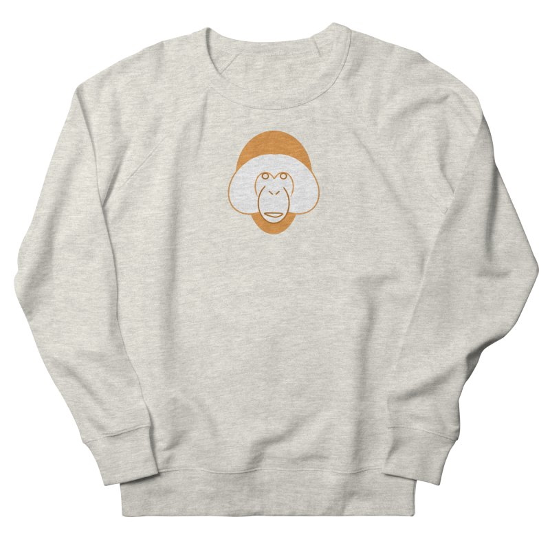 Orangutan Logo Women's French Terry Sweatshirt by Stop Palm Oil!
